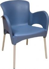 Thermo Plastic Titan Stacking Chair - Blue